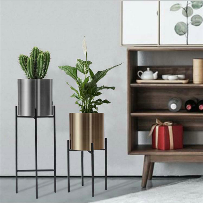 Nordic Minimalist  Metal Flower Pot Simple Creative Decorative Vase Iron Flower Stand Home Decoration Rack