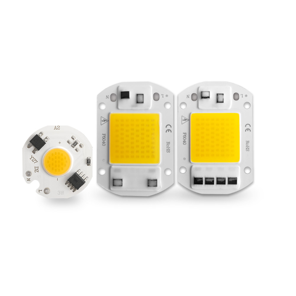 LED COB Chip 20W 30W 50W 220V Smart IC No Need Driver 3W 5W 7W LED Bulb Lamp For Flood Light Spotlight Diy Lighting