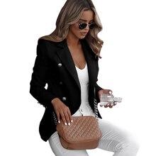 2019 Women Casual Suit Coat Plus Size Business Blazer Long Sleeve Jacket Outwear Ladies Slim Blazer Coat blaser feminino D30