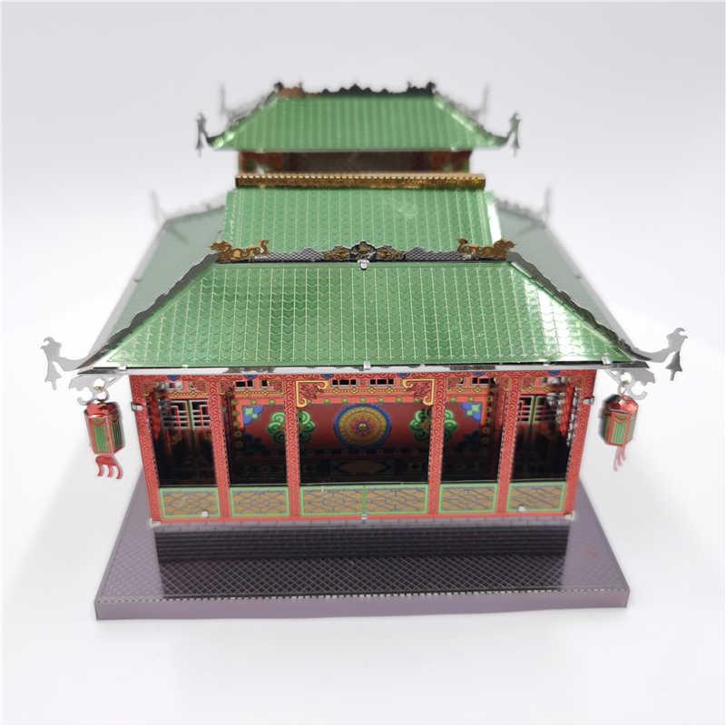 Mmz Model Logam Laut 3D Logam Model Kit Teater Kuno Arsitektur DIY Merakit Puzzle Laser Cut Jigsaw Bangunan Mainan Hadiah