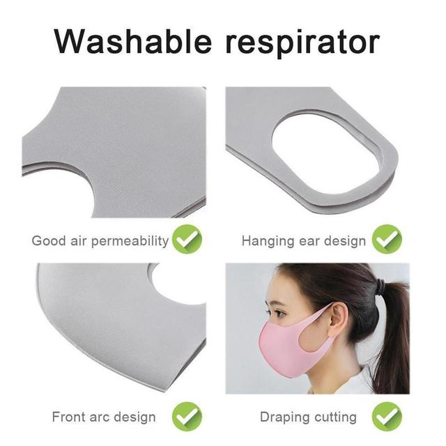 Cotton Cute PM2.5 Mouth Mask Anti Haze Dust Mask Nose Filter Windproof Face Muffle Bacteria Flu Fabric Cloth Respirator 3