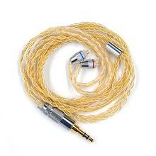 Kz35мм позолоченный посеребренный mmcx hifi обновленный кабель