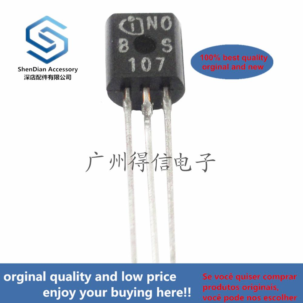 10pcs 100% Orginal New BS107 BS107 To-92 TMOS Switching(N-Channel-Enhancement)  Real Photo