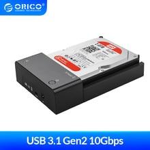 Orico 2.5 3.5 Polegada hdd caso sata para usb 3.1 gen2 tipo c ssd adaptador de alta velocidade hdd caixa disco rígido disco rígido caso gabinete externo