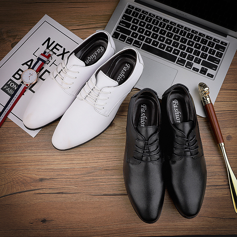 2019 Fashion Mens Leather Shoes Wedding Business Dress Pointed Oxfords Breathable Working Lace Up Shoes Big Size 45 46 47