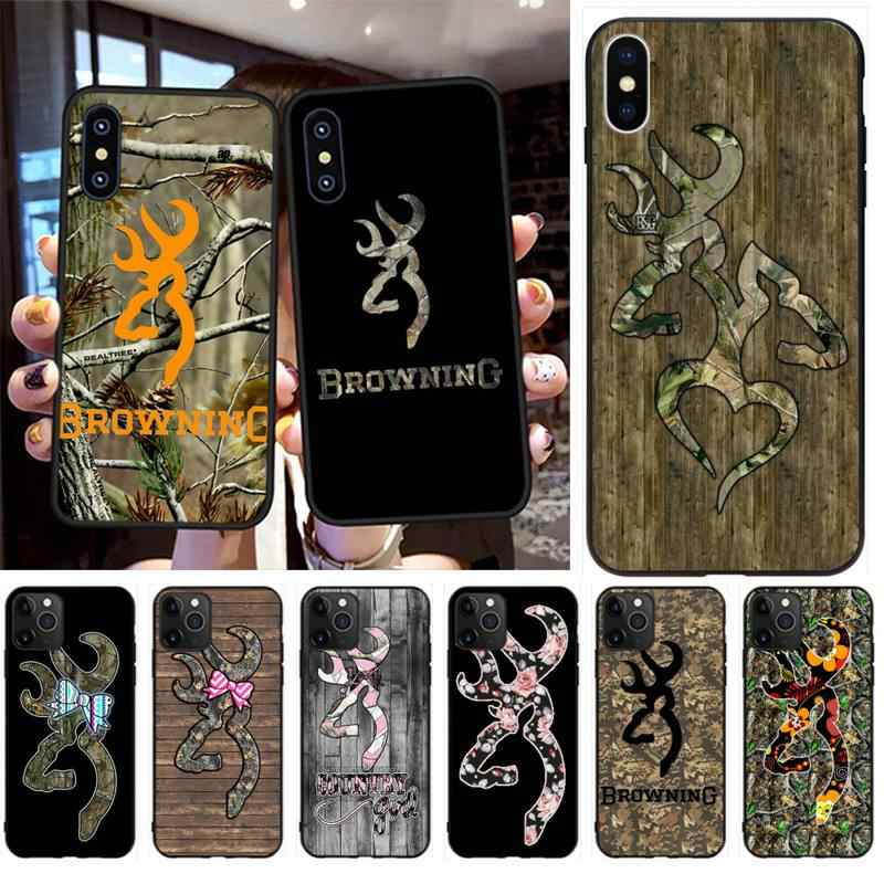 PENGHUWAN Camo Browning Coque Shell Phone Case for iPhone 11 pro XS MAX 8 7 6 6S Plus X 5S SE 2020 XR case