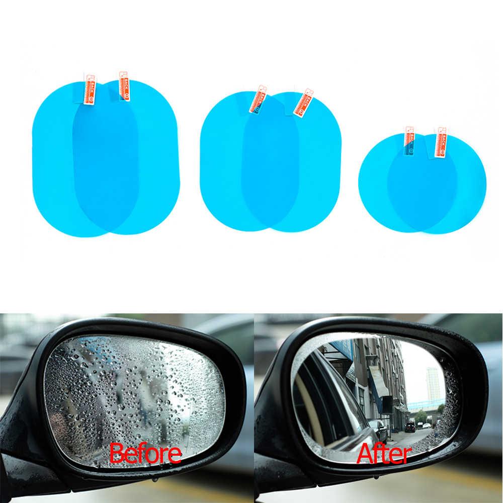 Película transparente para ventana de espejo de coche, espejo retrovisor antiniebla, película protectora para coche, pegatina impermeable para coche, 2 unidades por juego