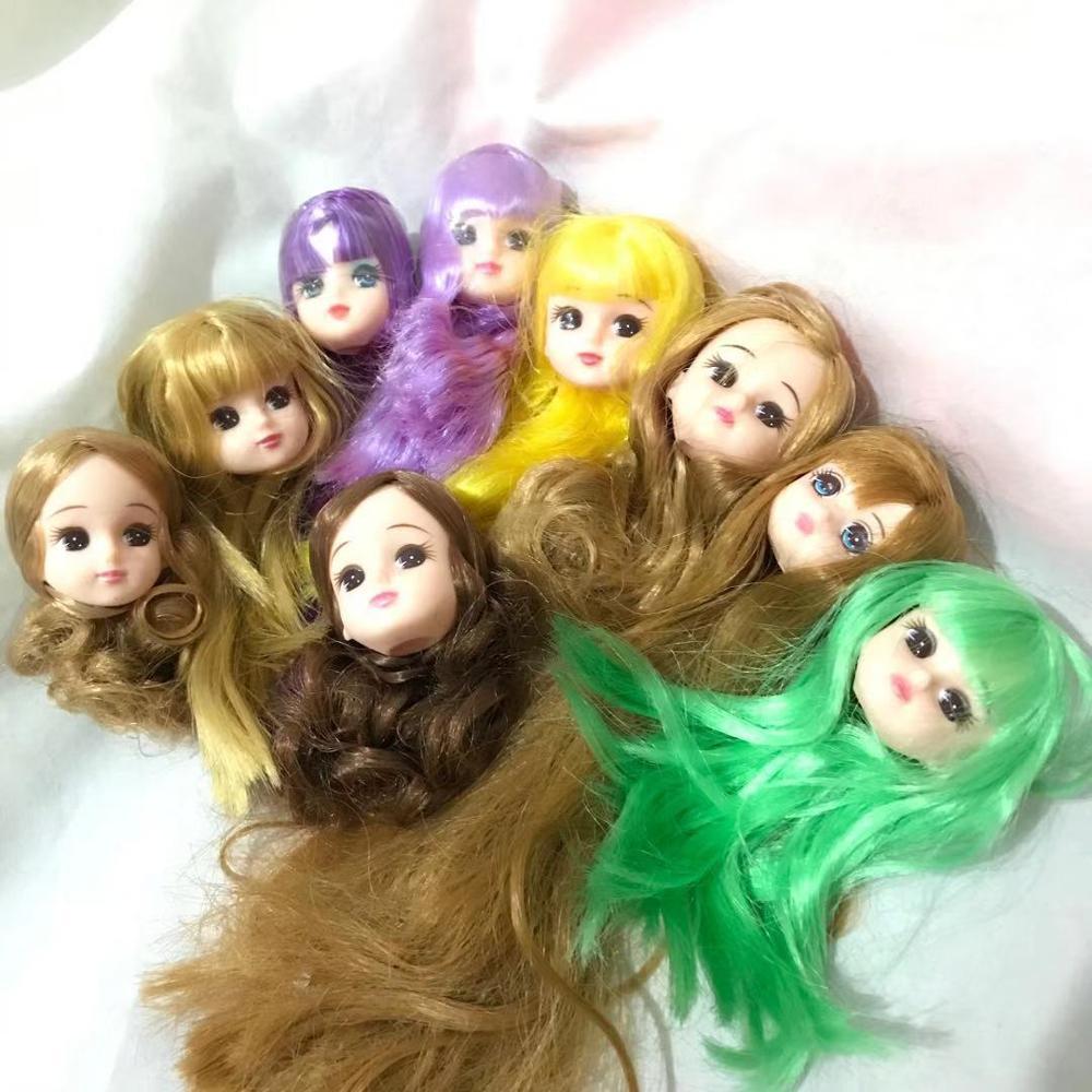 Rare Limited Edition Licca Doll Toy Head Original Cartoon Doll Head Girl DIY Dressing Hair Toys Collection Cute Doll Head
