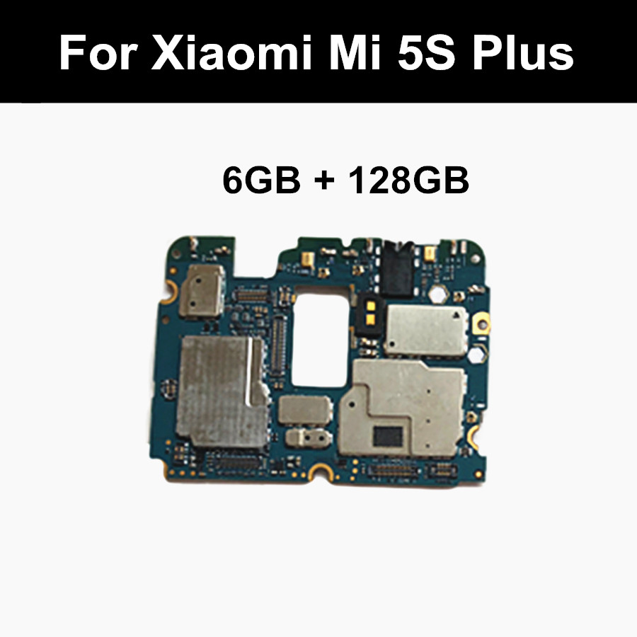 Unlocked Main Board for Xiaomi Mi 5S Mi5S M5S Plus 6GB+128GB MainBoard MotherBoard title=