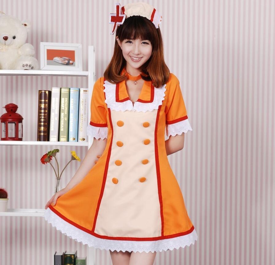 High Quallity Japanese Anime VOCALOID Hatsune Miku Nurse Woman Cosplay Costume Dress + Accessory