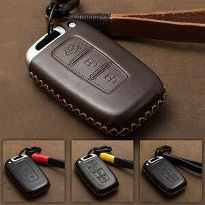 Для Hyundai Sonata Veloster Elantra I30 IX35 Verna S263 чехол для ключа автомобиля из натуральной кожи чехол Чехол для ключа KIA