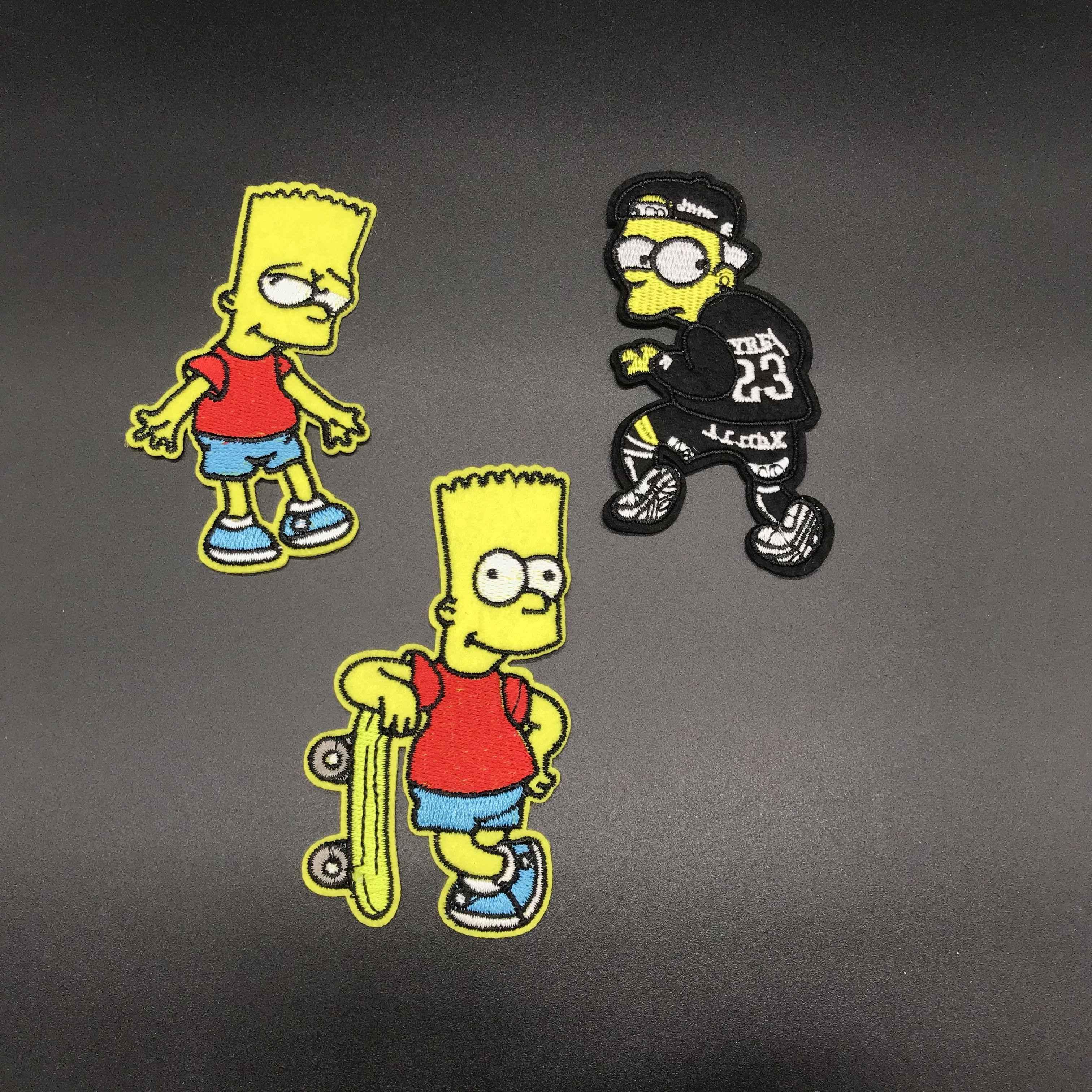 مطرزة القماش شكل خليط الكرتون سيمبسون الحديد على للفتيات الفتيان الملابس ملصقات الملابس الملابس والاكسسوارات