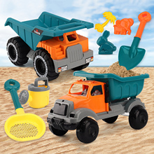 8PCS Multifunctional Water Sand Toy Set Children Beach Toys Engineering Car Truck Summer Toys Beach Water Game Play Cart