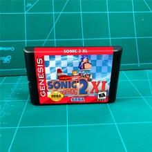 Sonic 2 Xl (Sonic The Hedgehog 2 Xl) 16 Bit Md Games Cartridge Voor Megadrive Genesis Console