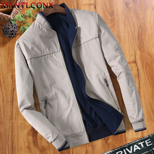 MANTLCONX Mens Jacket Spring Autumn Cotton Dad Wearing Casual Thin Middle-aged Men Outwear Coat Wholesale