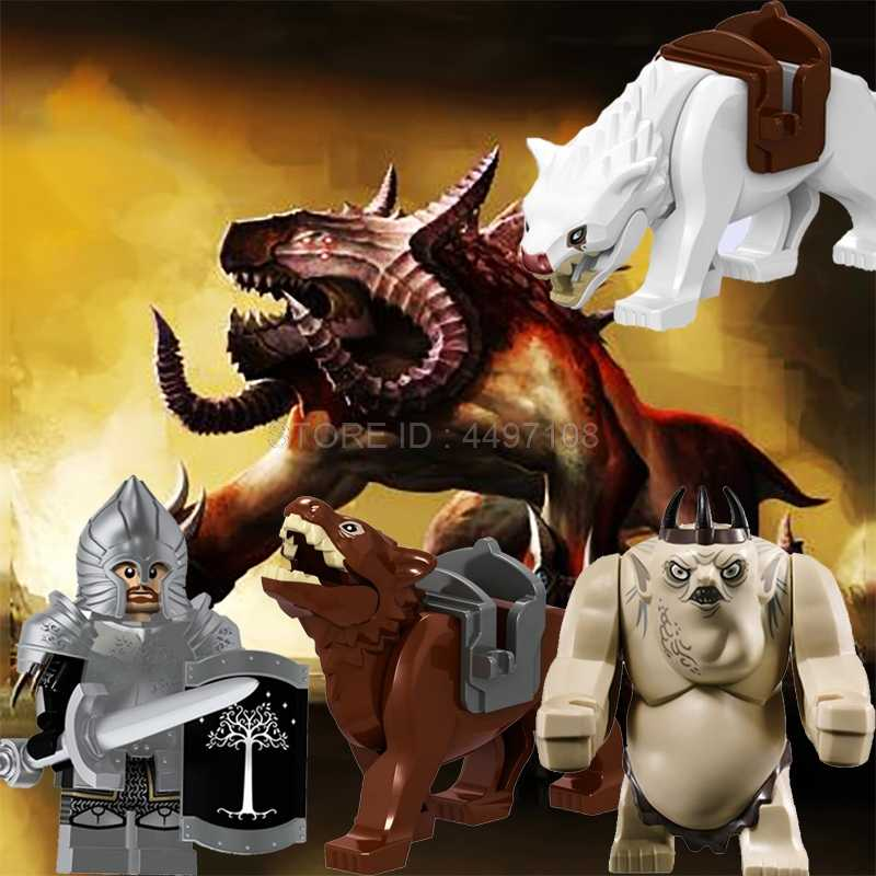 Hobbit The Lord Of The Rings King Wolf War Horse Uruk Hai Dead Sodier Birthday Gifts Building Blocks Movie Toy Figures Baby Toys