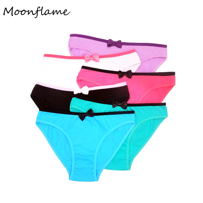 Moonflame 5 Pcs/lot 2020 Hot Sale Ladies Panties Everyday Style Cotton Women's Underwear Briefs Women 89040