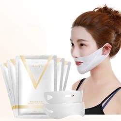 1 шт 4D двойным v-образным вырезом поверхностного натяжения укрепляющая маска Бумага для похудения устраняющий отеки лифтинг, укрепление