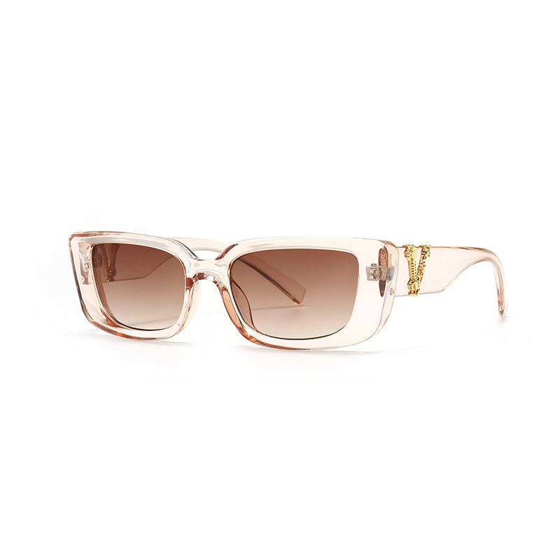Retro Small Rectangle Sunglasses Candy Colors Gradient Sun Glasses Shades UV400 8
