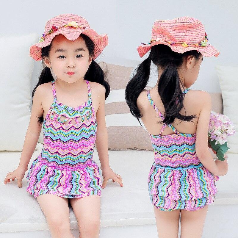 KID'S Swimwear Cute Girls Dress-Big Boy Tour Bathing Suit Students Swimwear Wholesale Direct Selling