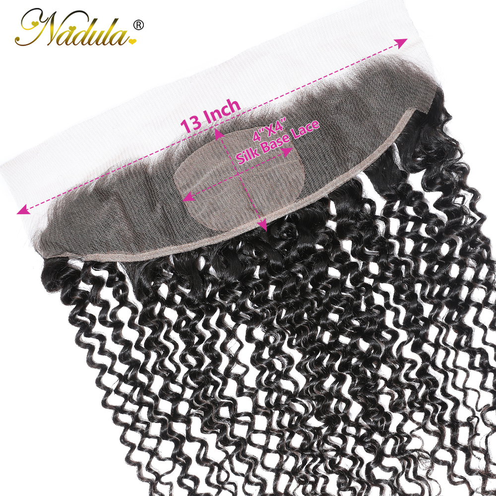 Nadula Hair  Body Wave Frontal Closure 100%  Frontal 13x4 Lace Frontal With Pre Plucked 4x4 Silk Base 4