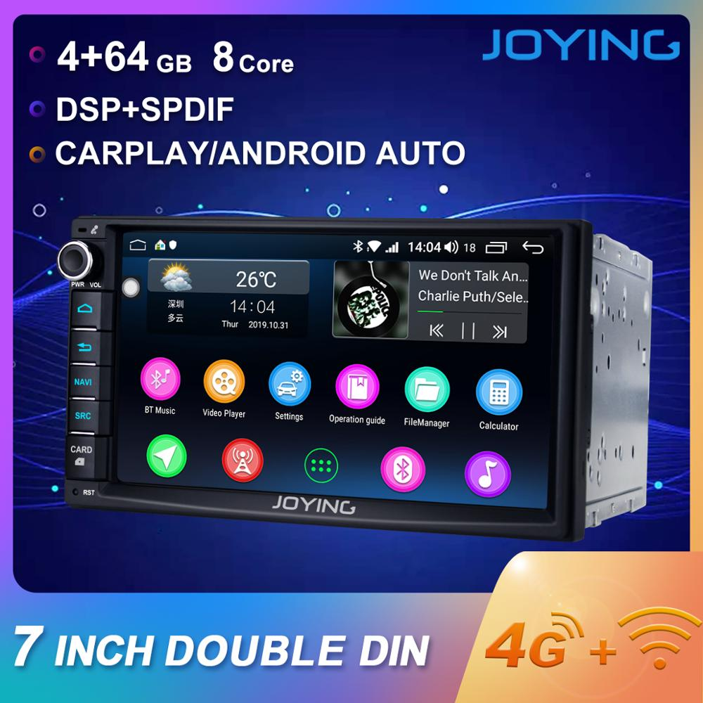 Joying 7'' 2 Din Car Radio Android 8.1 4GB+ 64GB Octa Core Autoradio Support 4G BT GPS DSP SWC Android auto Carplay Split Screen image