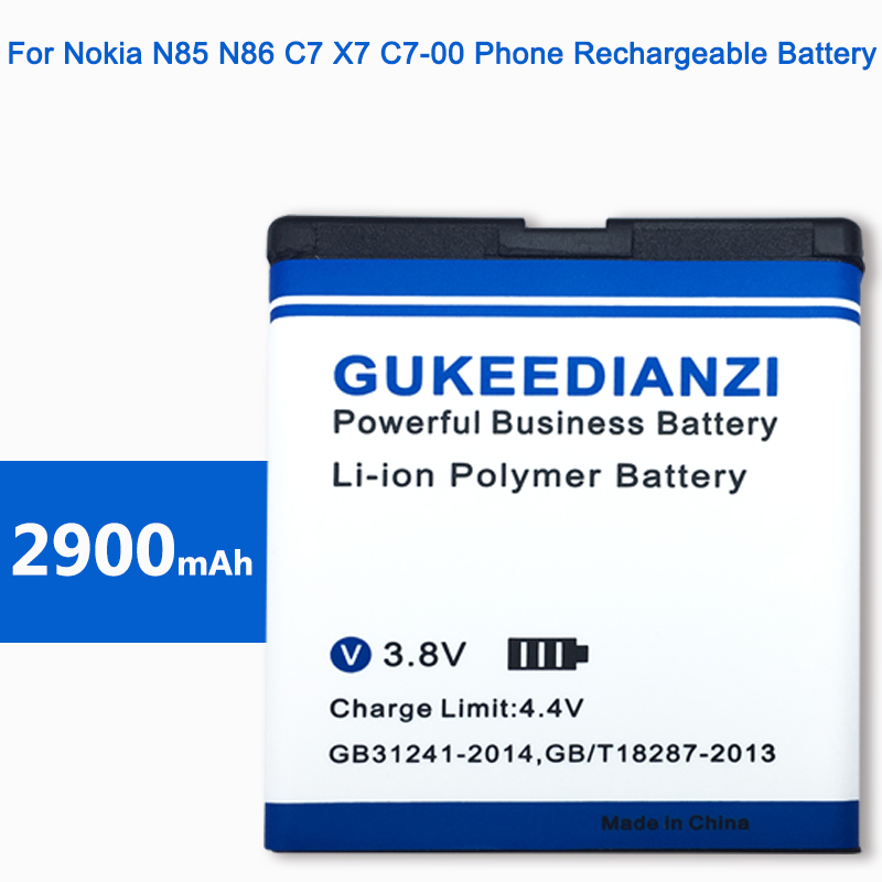 BL-5K 2900mAh 100% New Mobile Phone Battery For Nokia N85 N86 N87 8MP 701 X7 X7 00 C7 C7 00 Replacement Li-ion Batteries(China)