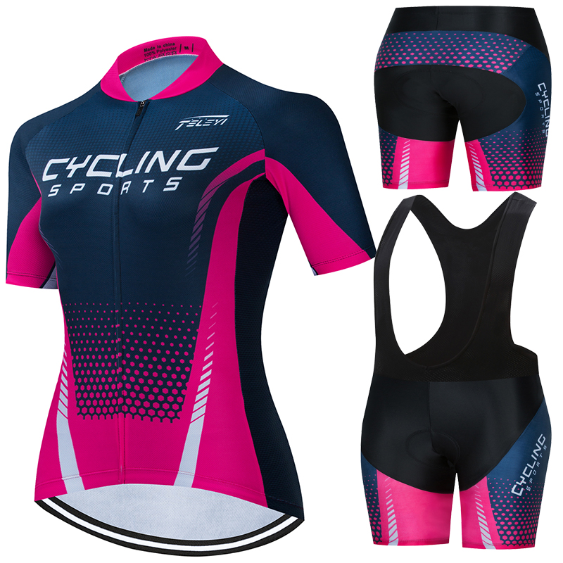 rcc sky Pro Team Cycling Jersey Set Women Summer Bike Clothes MTB Ropa Ciclismo Bicycle Uniforme Maillot Quick Dry 5D Pad