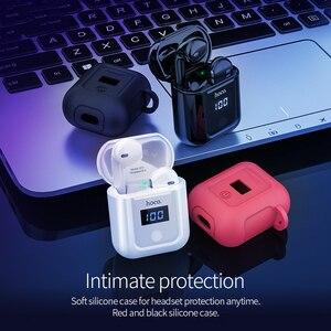 Image 5 - Hoco fone de ouvido sem fio gêmeos, fone de ouvido bluetooth 5.0 com display led, caixa de carregamento mãos livres, música estéreo + capa para iphone 11 pro pro pro