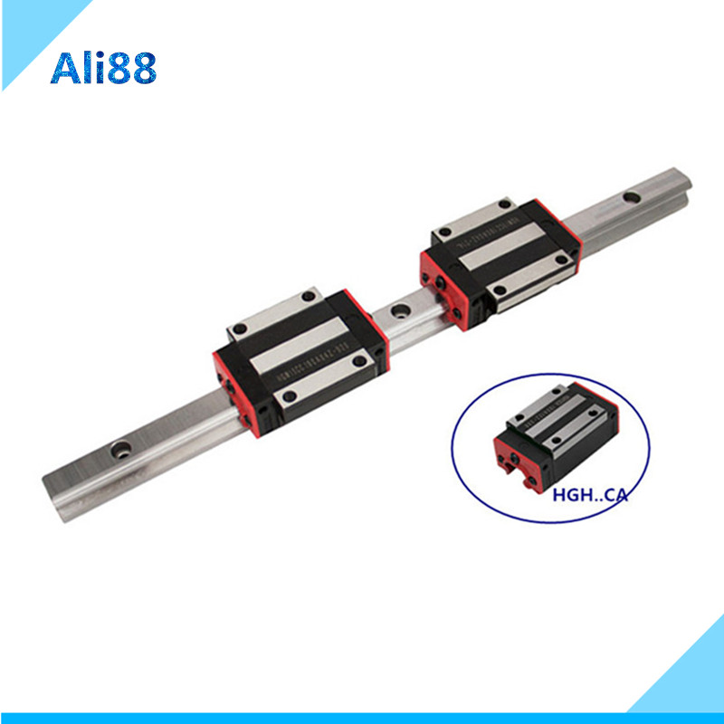 Free shipping linear guide 15mm linear rail HGR15 any length guia lineal with HGH15CA or HGW15CC linear bearing hiwin Same size
