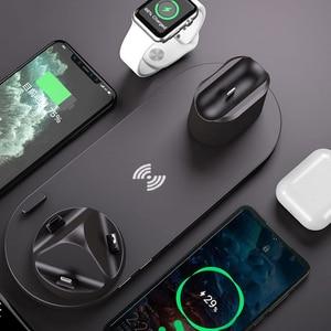 Image 3 - ワイヤレス充電器多機能高速充電 iphone 用スタンド 11 プロ x xs 時計 5 4 3 airpods プロワイヤレス急速充電器