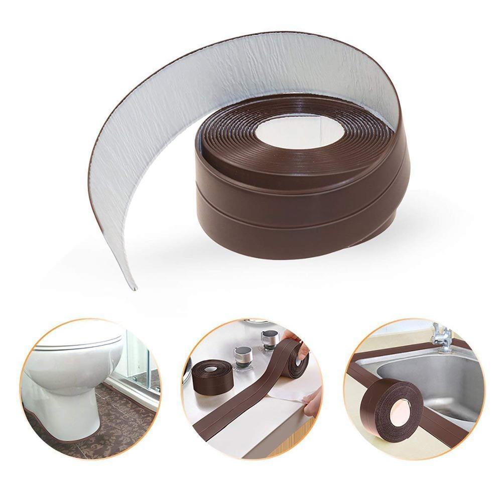 38mm*3.2m Caulk Strip PE Self Adhesive Sealant Tape Waterproof Mildewproof Trimmer Tub Kitchen Toilet Wall Corner Edge Bathroom