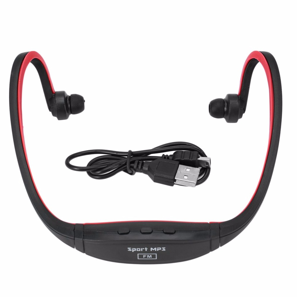 Universal Sport MP3 Player Portable Music Running Headphone Earphone Headset With TF Card Slot MP3 Music Player