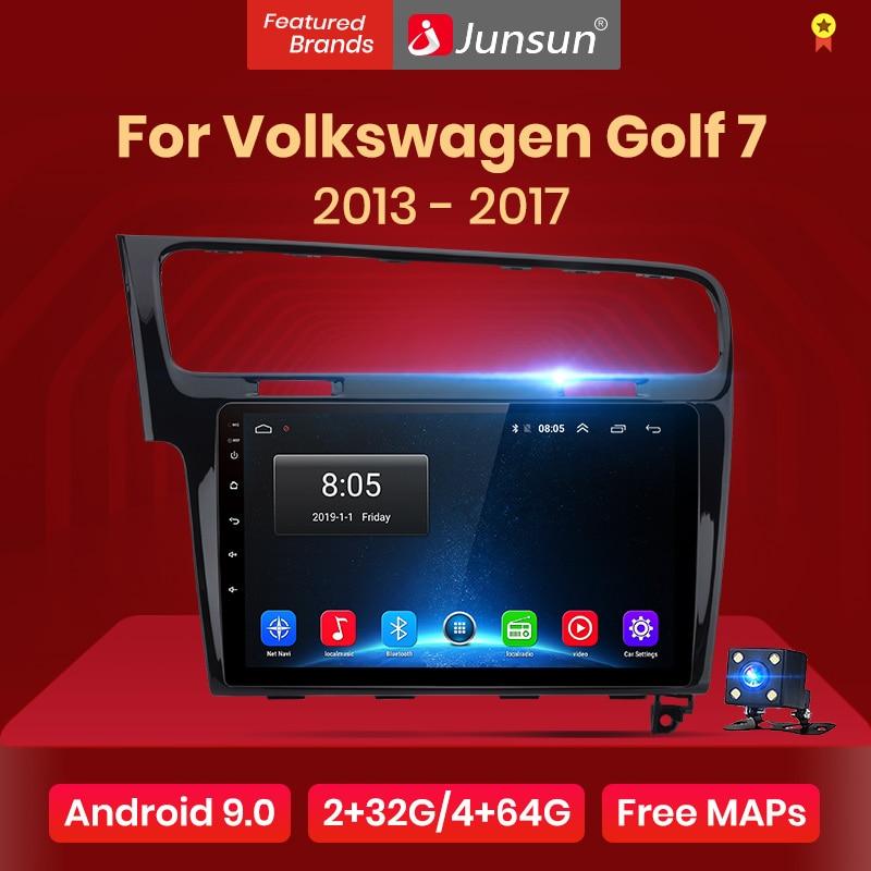 Junsun V1 2G + 32G Android 9,0 RDS para Volkswagen Golf 7 2013-2017 auto Radio Multimedia reproductor de Video GPS de navegación 2 din dvd