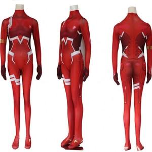 Image 5 - Jupe chérie dans le FRANXX Code002, Costume Cosplay complet, coiffure, coiffure, vêtements dhalloween pour femmes