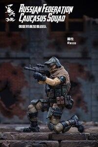 Image 5 - JOYTOY 1/18 figurka żołnierzy (3 sztuk/partia) federacja rosyjska kaukaz model doll darmowa wysyłka