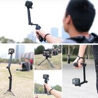 3 weg Grip Wasserdichte Einbeinstativ Selfie Stick Stativ für GoPro Hero 9 8 7 6 5 4 Yi 4K SJCAM EKEN DJI OSMO Gehen Pro Zubehör