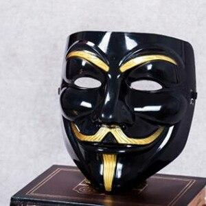 Image 5 - Анонимные костюмы с масками Vendetta Face косплей для модной вечеринки, Стильные Золотые товары для взрослых, цвета: серебристый, желтый, белый, Хэллоуин