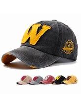 Новый хлопок буква W Ковбой бейсболка ретро открытый тени досуг шапки шляпы для пап хип-хоп Спорт шляпы мужские джинсовые шляпы