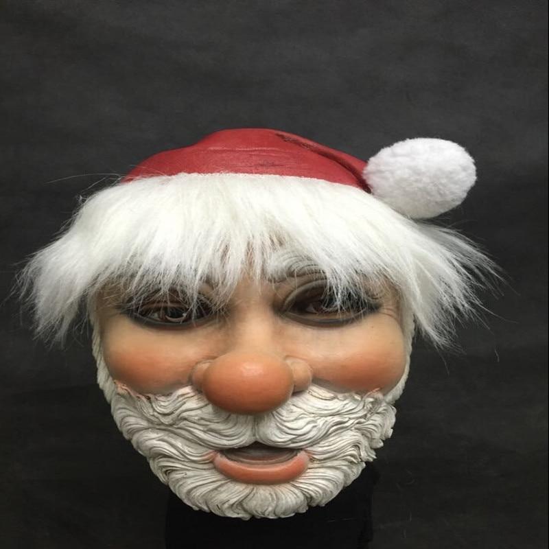 Merry-Christmas-Santa-Claus-Latex-Mask-Outdoor-Ornamen-Cute-Santa-Claus-Costume-Masquerade-Wig-Beard-Dress (2)