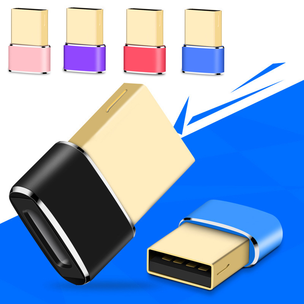 1/3/5 Pcs USB 2.0 Male To Type-c Female Converter Adapter For Computer Phone OTG Adapter Power USB-C Flash Data Transfer