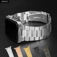 Cinturino URVOI per Apple Watch series 6 SE 5 4 3 2 1 cinturino a maglie per iWatch nuovo stile sottile 3 file classico acciaio inossidabile