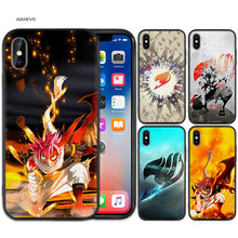 Fairy Tail Een Zwart Rubber Anti-klop Siliconen Case Cover voor iPhone X XS XR XS 11 11Pro Max 7 8 6 6S 5 5S 5C SE Plus Funda Capa(China)