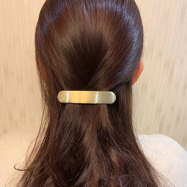 Horquilla de Metal de Color dorado y plateado para mujer, pinzas para el pelo geométricas de estilo Punk, accesorios de joyería de moda para novias, recién llegados