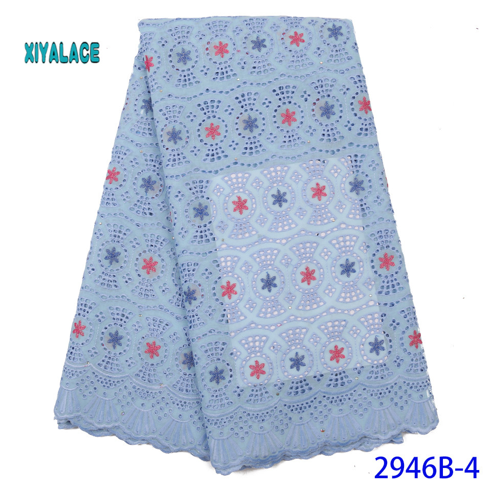 High Quality Sequence Lace Fabric African Lace Fabric 2019 French Lace Fabrics For Party Dress YA2946B-4