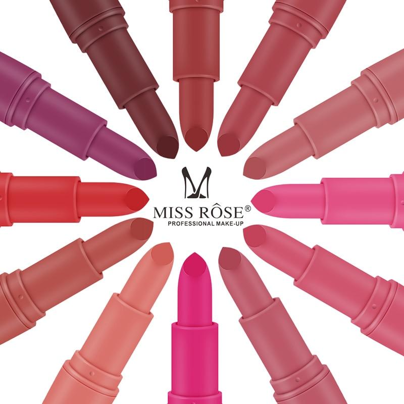 Ny Miss Rose Matte læbestift til kvinder Sexet brand læber Farve - Makeup - Foto 4