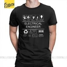 מהנדס חשמל קלאסי מצחיק Tees קצר שרוולים הומור T חולצות מסיבת גברים כיף עגול צוואר טהור כותנה צמרות חולצה בתוספת גודל