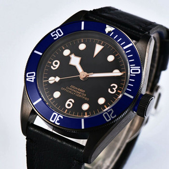 Automatic mens watch 41mm Corgeut sterile dial Miyota 、Seagull Sapphire Glass Waterproof swim  Luminous Mechanical wristWatches