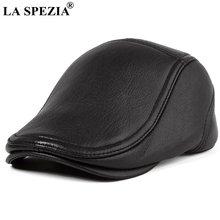 Плоские кепки la spezia для мужчин черные береты из натуральной