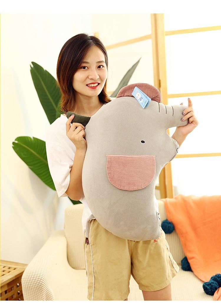 lovely cartoon elephant plush toy very soft cotton doll sofa cushion throw pillow birthday gift h1548